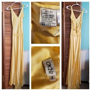 Yellow silk gown